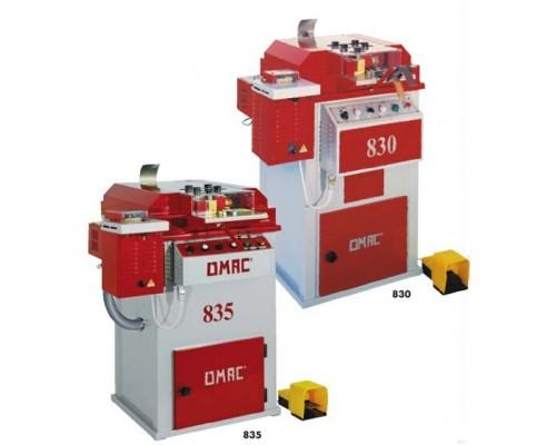 Машины для дублирования / подрезки (триммер), округления и полировки кромок ремней OMAC 830 и OMAC 835, Италия