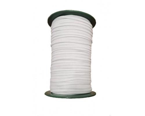 Резинка 10 мм, тканая, белая, катушка 100 м