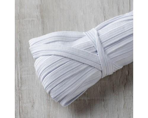 Резинка 8 мм вязаная, басмы 100 м, белая
