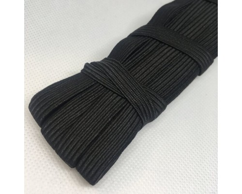 Резинка 10 мм, тканая, арт. 2010 басмы, моток 100 м, черная