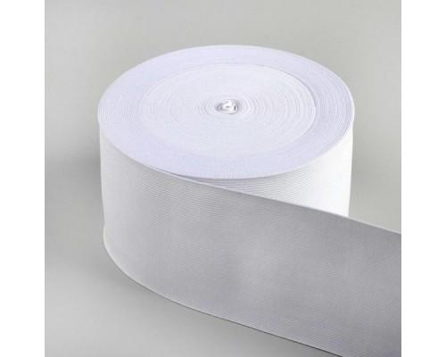 Резинка 100 мм, вязаная, арт. 0100, рулон 50 м, белая