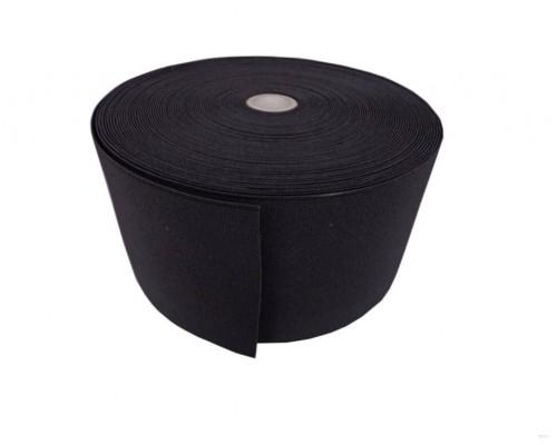 Резинка 100 мм, вязаная, арт. 0100, рулон 50 м, черная