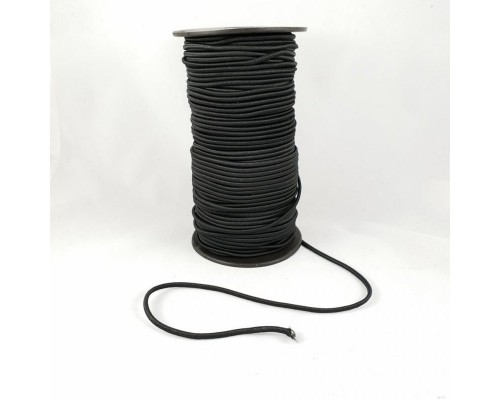 Резинка шляпная, 2 мм, черная, катушка 100 м