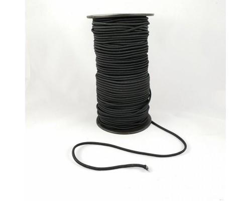 Резинка шляпная, 2,5 мм, черная, катушка 100 м