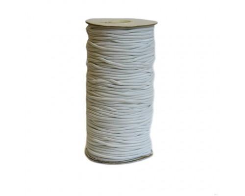 Резинка шляпная, 3 мм, белая, катушка 100 м
