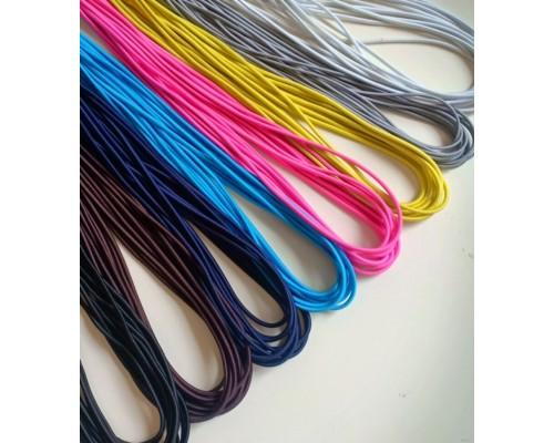 Резинка шляпная, 3 мм, цветная, КНР
