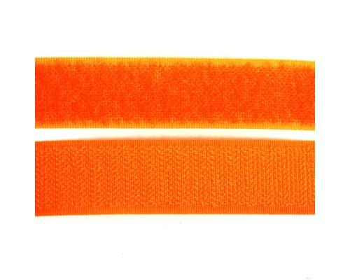 Лента контактная 20 мм, оранжевый, рулон 25 м, КНР