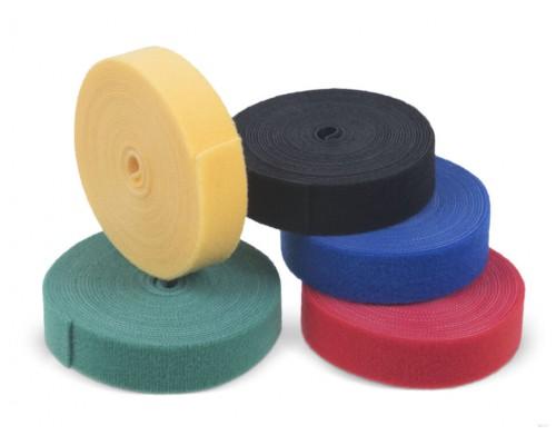 Лента крючковая 25 мм, цветная, рулон 25 м, КНР