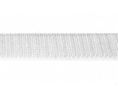 Лента крючковая, 20 мм, белая, рулон 25 м, КНР