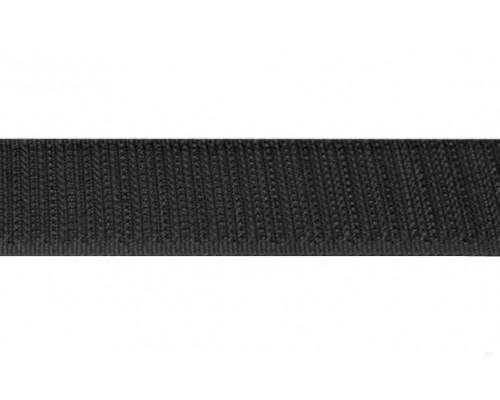 Лента крючковая, 20 мм, черная, рулон 25 м, КНР