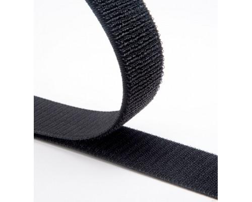 Лента петельная 25 мм, черная, рулон 25 м, КНР