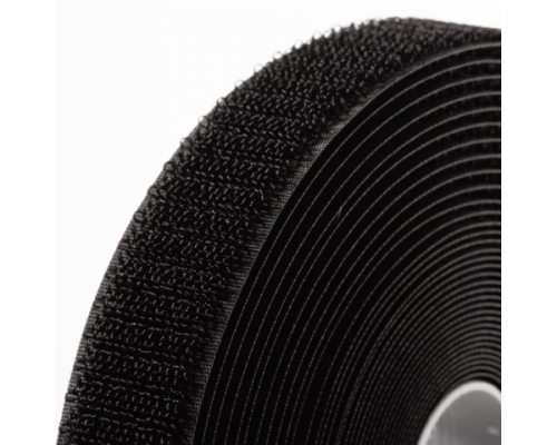 Лента петельная 50 мм, черная, рулон 25 м, КНР