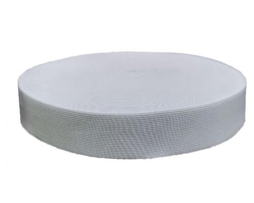 Резинка 20 мм, ткацкая, рулон 20 м, белая