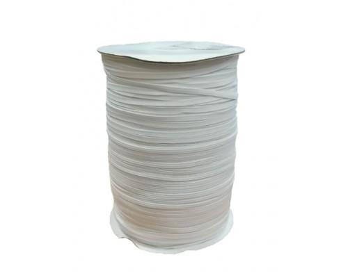 Резинка 4 мм вязаная, катушка 400 м, белая