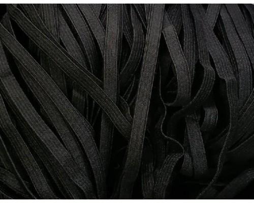 Резинка 6 мм, вязаная, басмы 100 м, черная