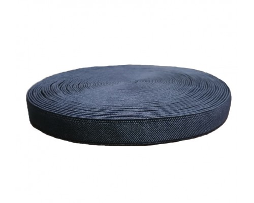 Резинка 20 мм, помочная, черная, рулон 20 м
