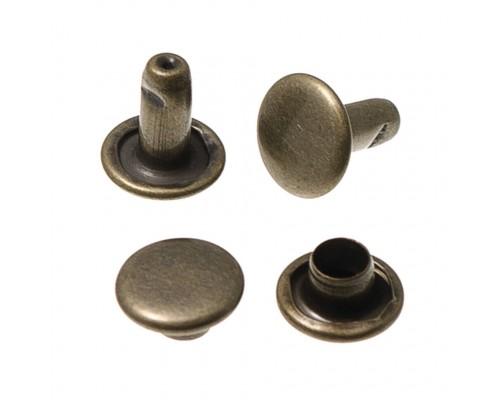 Хольнитен 6 мм, 2-сторонний, сталь (антик, оксид, никель, т. никель) 5000 шт,Турция