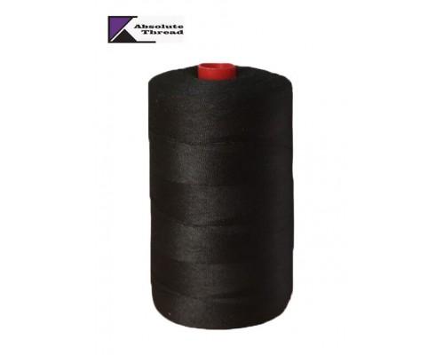 Нитки армированные 45 ЛЛ, 2500 м, Absolute Thread, черные