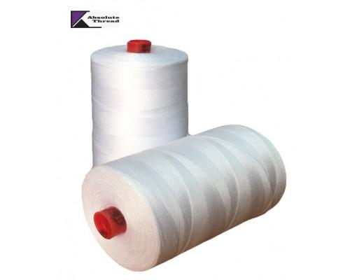 Нитки армированные 35 ЛЛ, 2500 м, Absolute Thread, белые