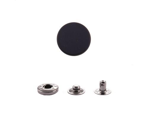 Кнопка Альфа, 12,5 мм, пружинный контакт, прорезиненная, латунь, упак. 1000 шт