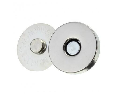 Кнопка-магнит потайная 18 х 2 мм, уп. 50 шт (25 пар)