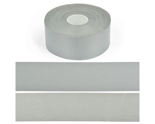 Лента СВ, 50 мм, арт. А202-2 пэ 100% (7cpl) серая, рулон 100 м, КНР