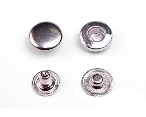 Кнопка 15 мм Т-54 АЛЬФА антик/никель/оксид/темн.ник, уп. 1440 шт, Турция