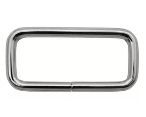 Рамка 20 мм прямоугольная, никель, оксид (100 шт)
