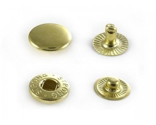 Кнопка 15 мм АЛЬФА золото (латунь) нержавеющая, 720  шт, Турция