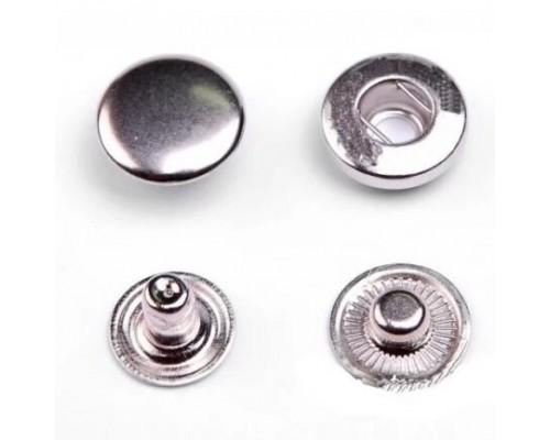 Кнопка 15 мм Т-54 АЛЬФА никель+цветная эмаль, 720 шт, Турция