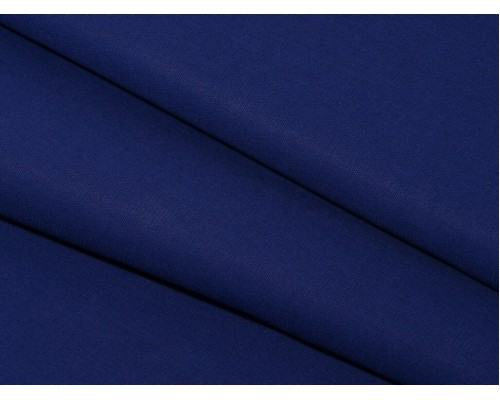 Бязь гладкокрашеная, синяя, шир. 150 см, 142 г/м2 (ГОСТ)