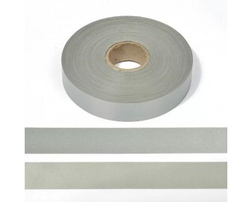 Лента СВ, 25 мм, арт. А102-2 пэ 100% (120cpl), рулон 200 м, серая, КНР