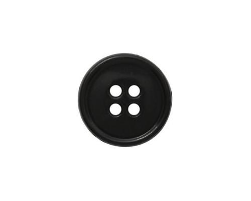 Пуговица 14 мм. ПП: черная, 4 отверстия, упак. 1000 шт