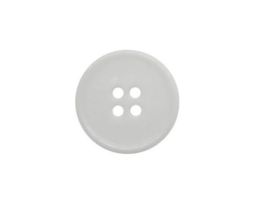 Пуговица 17 мм, ПП белая, 2-4  отверстия, упак. 1000 шт