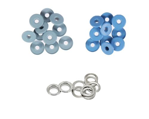 Люверсы  4 мм, сталь, синий, серый, 1000 шт в 1 уп, Турция