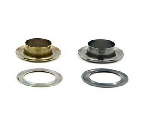 Люверсы 5 мм, (10 мм х 6 мм) оксид/никель/черн.никель, 1000 шт в 1 уп, Турция