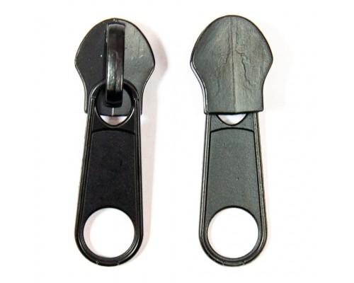 Бегунок для спирали Т-7, галантерейный, черный никель, упак. 100 шт