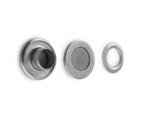 Люверсы-аэраторы 22 мм х 10 мм, никель, 1000 шт. в 1 уп, Турция