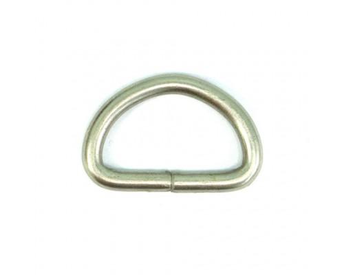 Полукольцо 25 мм оксид, никель (100 шт), КНР