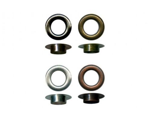 Люверсы 14 мм оксид/антик/никель/т.никель, 500 шт в упак